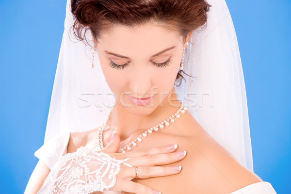 Stock photo: happy bride