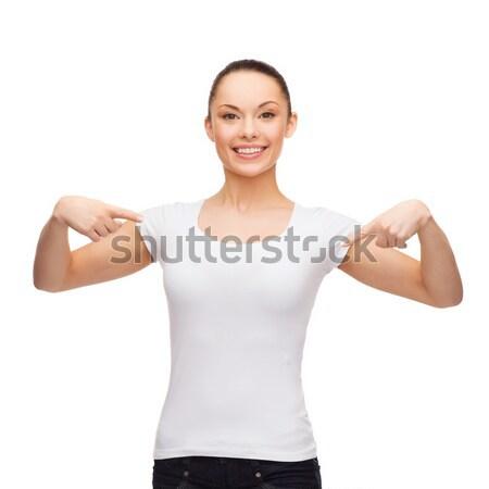 женщину футболки фотография формы сердца девушки любви Сток-фото © dolgachov