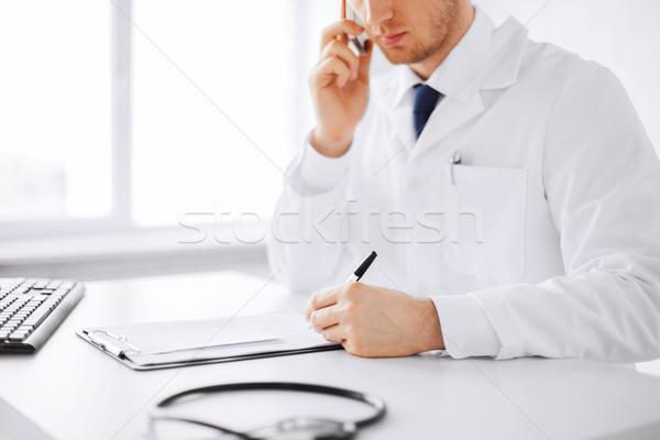 Foto stock: Médico · do · sexo · masculino · cápsulas · saúde · hospital · médico · escrita