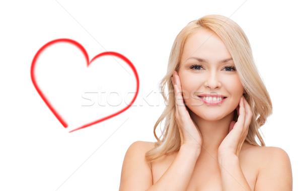 Zdjęcia stock: Kobieta · dotknąć · twarz · skóry · piękna · piękna · kobieta