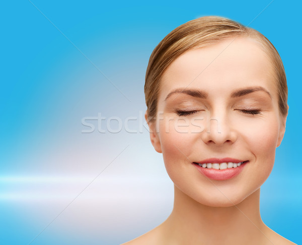 face of beautiful woman with closed eyes Stock photo © dolgachov