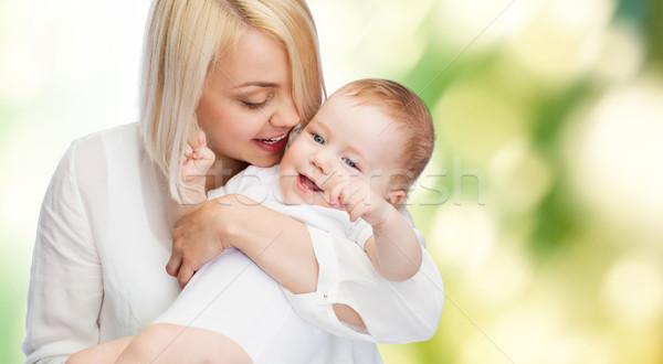 Felice madre sorridere baby famiglia bambino Foto d'archivio © dolgachov