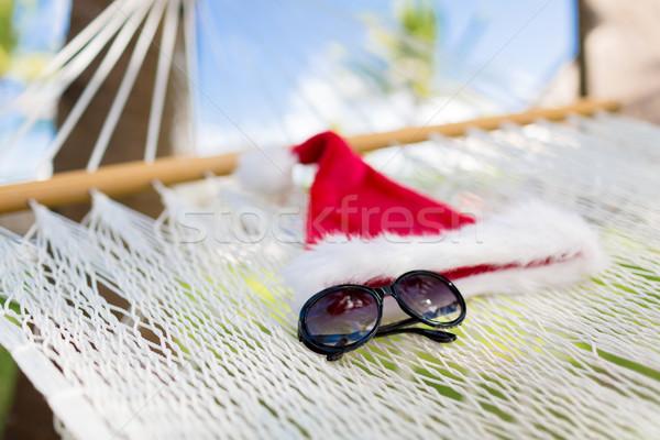 Hangmat helper hoed vakantie christmas Stockfoto © dolgachov