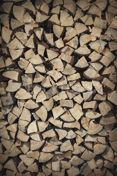 Yakacak odun doku ahşap duvar doğa Stok fotoğraf © dolgachov