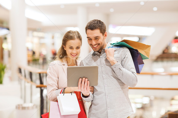 Paar mall verkoop Stockfoto © dolgachov