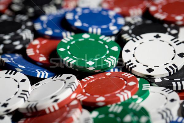 Fichas jogos de azar jogo diversão dinheiro Foto stock © dolgachov
