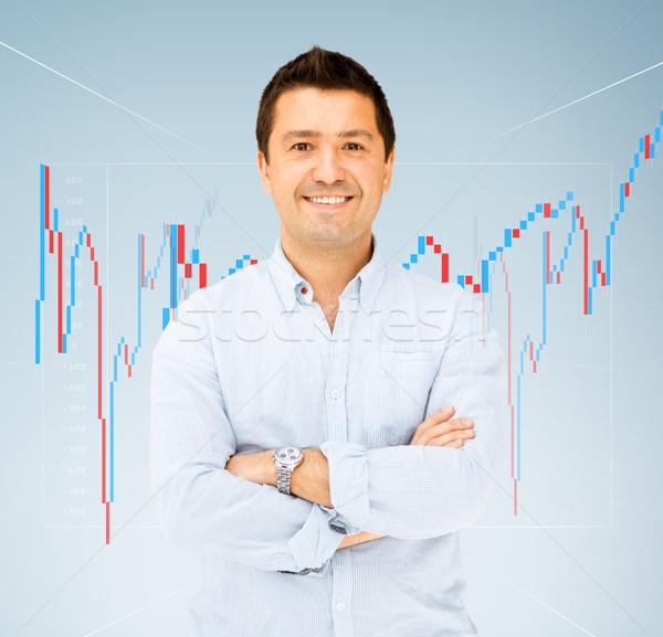handsome smiling man Stock photo © dolgachov