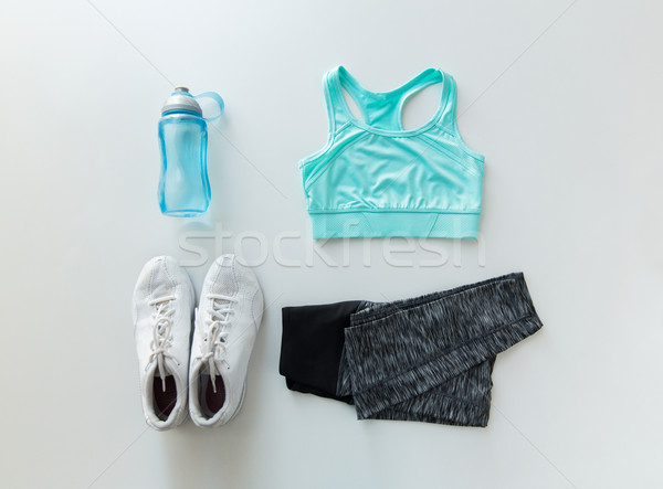 女性 スポーツウェア ボトル セット スポーツ ストックフォト © dolgachov