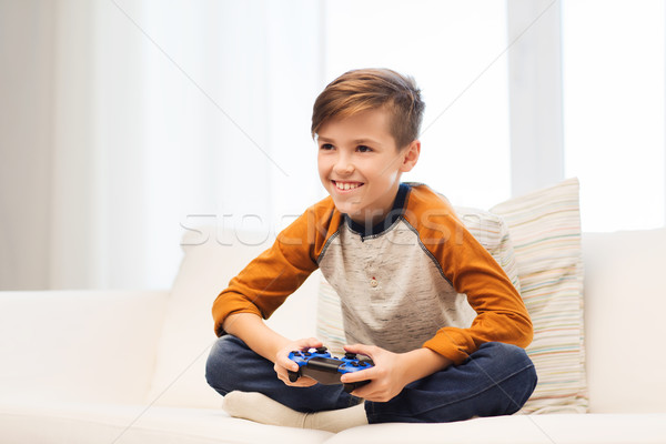Joystick jogar jogo vídeo casa lazer Foto stock © dolgachov