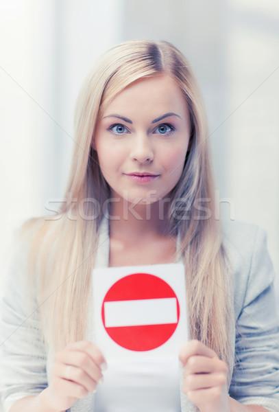 Mulher não assinar quadro menina mãos Foto stock © dolgachov