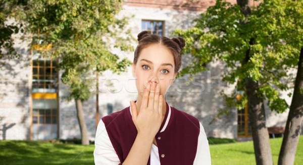 Confundirse estudiante nina mano personas Foto stock © dolgachov