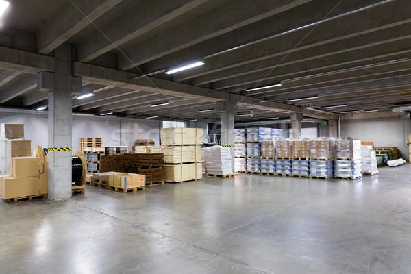 cargo boxes storing at warehouse Stock photo © dolgachov