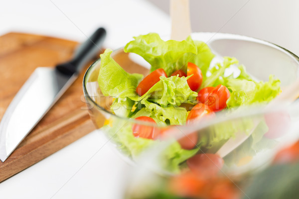 close up of vegetable salad with cherry tomato Stock photo © dolgachov