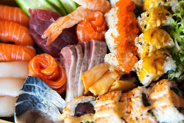 sushi set at restaurant Stock photo © dolgachov