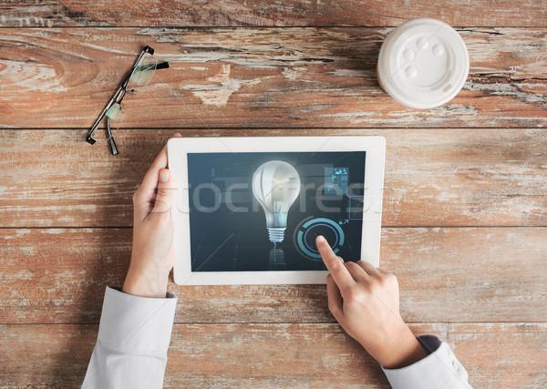 手 照明 電球 ビジネスの方々 ストックフォト © dolgachov