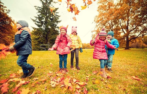 Foto d'archivio: Felice · bambini · giocare · parco · infanzia