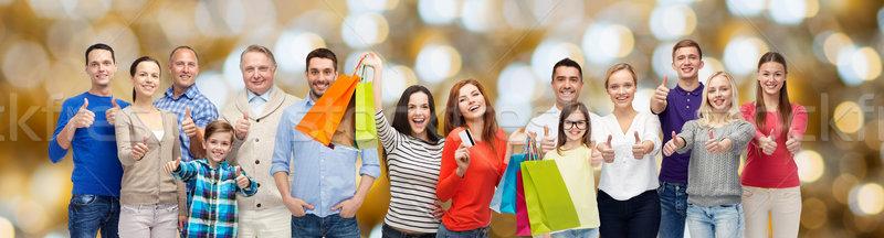 ストックフォト: 幸せな人々 · ショッピングバッグ · 販売 · 家族