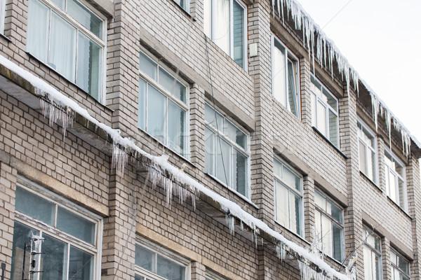 Bâtiment vie maison façade saison logement Photo stock © dolgachov