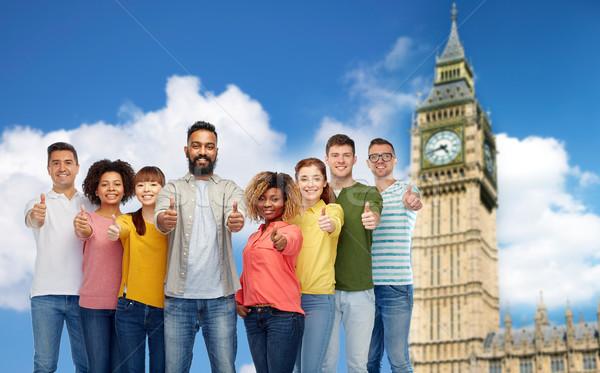 Pessoas do grupo Big Ben diversidade raça Foto stock © dolgachov