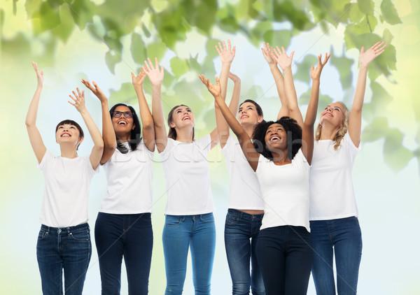 国際 グループ 幸せ 女性 多様 ストックフォト © dolgachov
