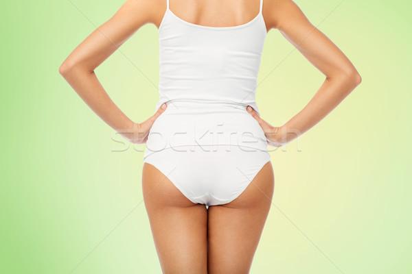 close up of woman body in white underwear Stock photo © dolgachov