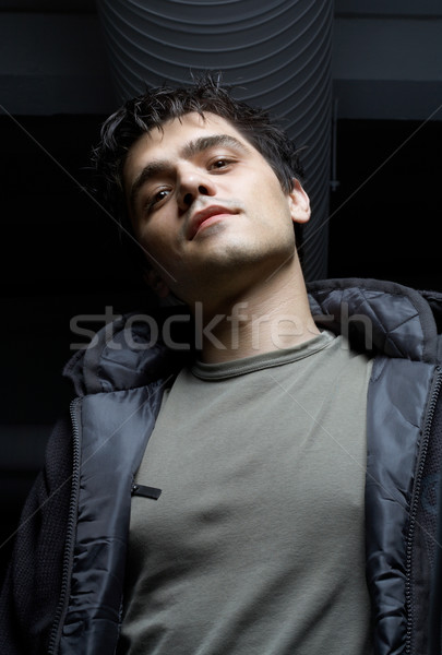street mobster in industrial building basement Stock photo © dolgachov