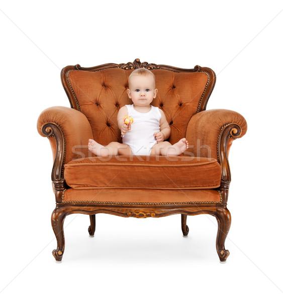 baby with big lollipop Stock photo © dolgachov