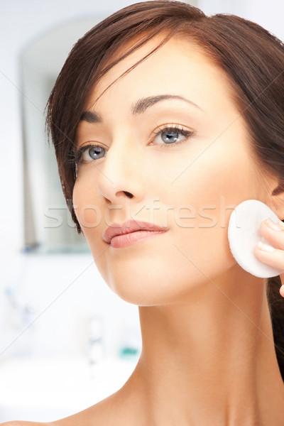 ストックフォト: 美人 · 綿 · 明るい · クローズアップ · 肖像 · 画像
