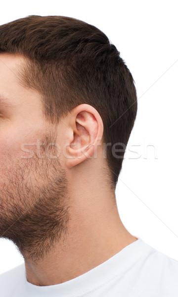 Maschio orecchio salute parti del corpo corpo Foto d'archivio © dolgachov