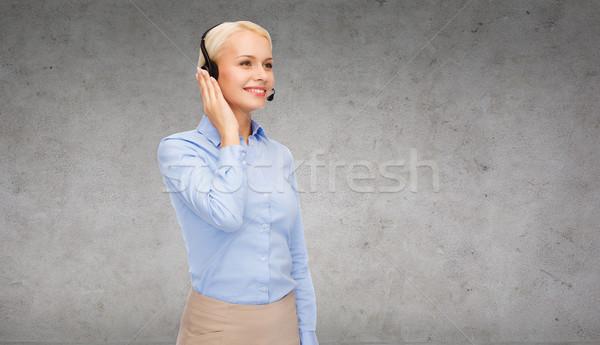 Amichevole femminile helpline operatore business tecnologia Foto d'archivio © dolgachov
