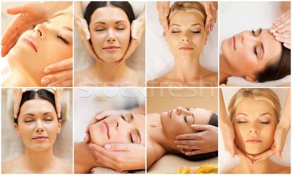 Mujeres tratamiento spa salón belleza Foto stock © dolgachov