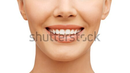 teeth whitening, before and after Stock photo © dolgachov