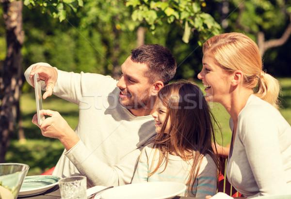 счастливая семья улице семьи счастье поколение Сток-фото © dolgachov