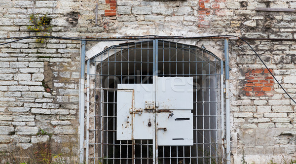 Eski hapis kapı Bina kapı Metal Stok fotoğraf © dolgachov