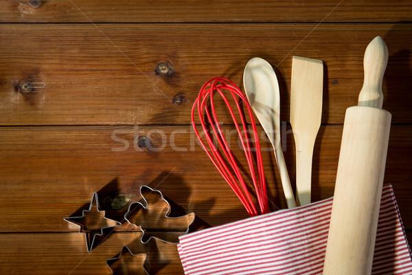 台所用品 セット ジンジャーブレッド 料理 ストックフォト © dolgachov