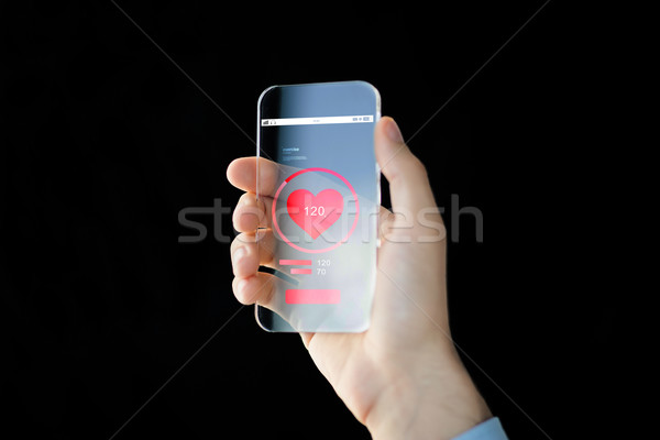 Strony smartphone puls technologii Zdjęcia stock © dolgachov
