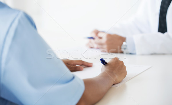 Stock fotó: Közelkép · orvos · jegyzetel · kórház · oktatás · hivatás
