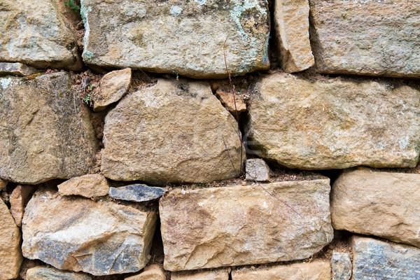 close up of old brick wall outdoors Stock photo © dolgachov