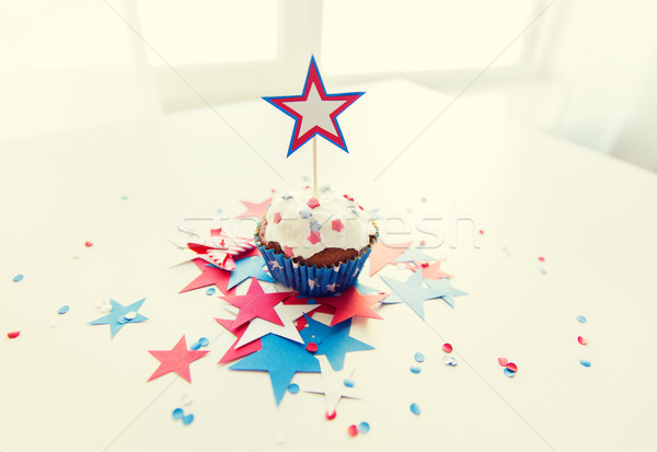 cupcake with star on american independence day Stock photo © dolgachov