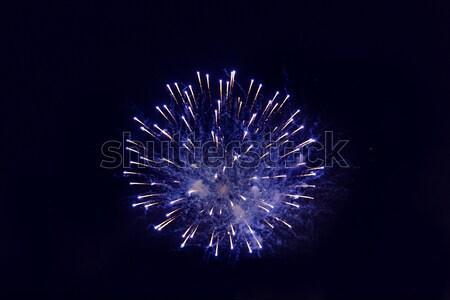 Piękna fajerwerków nieba wakacje uroczystości strony Zdjęcia stock © dolgachov