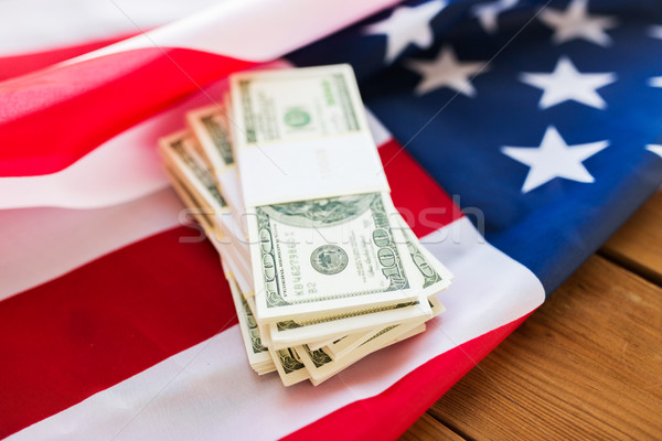Bandeira americana dólar numerário dinheiro orçamento Foto stock © dolgachov
