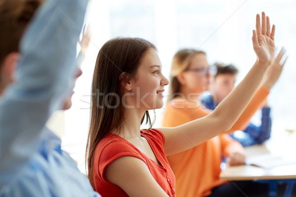 Groupe élèves ordinateurs portables école leçon éducation Photo stock © dolgachov