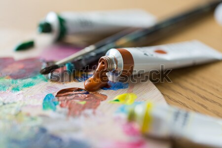 close up of marijuana joint and money Stock photo © dolgachov