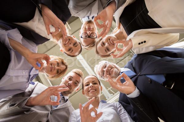 ビジネスの方々  印相 オフィス チームワーク ストックフォト © dolgachov