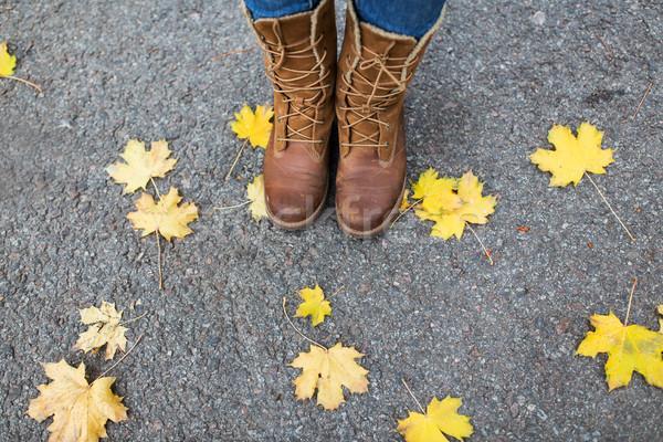 女性 フィート ブーツ 紅葉 シーズン 人 ストックフォト © dolgachov