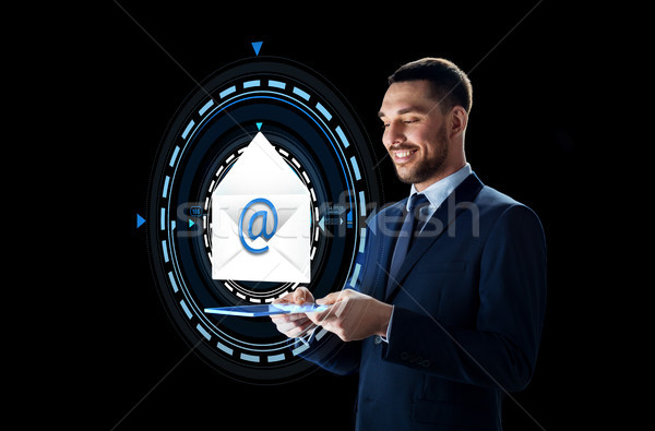 бизнесмен электронная почта голограмма деловые люди будущем Сток-фото © dolgachov