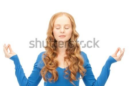 женщину беспомощный Плечи фотография печально белый Сток-фото © dolgachov