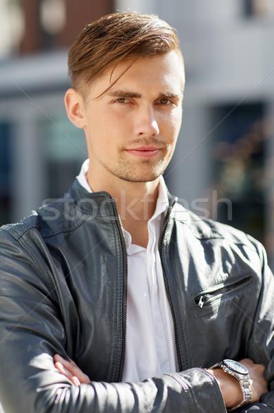 портрет молодым человеком улице жизни люди Сток-фото © dolgachov