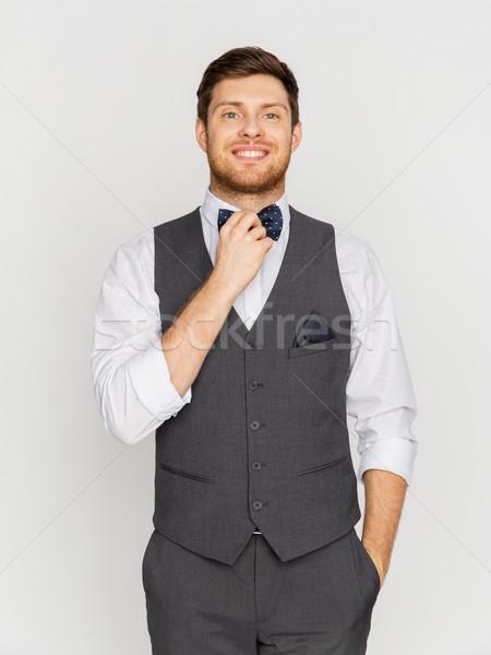 Feliz homem terno curativo festa Foto stock © dolgachov