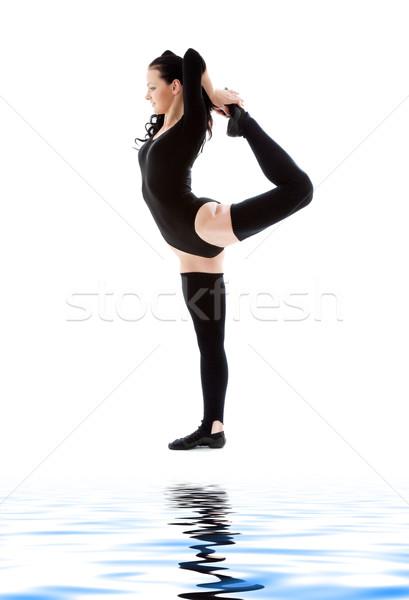 fitness instructor in black leotard Stock photo © dolgachov